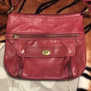 Red Fossil bag